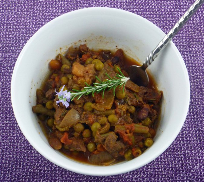 Beef, bean and rosemary stew