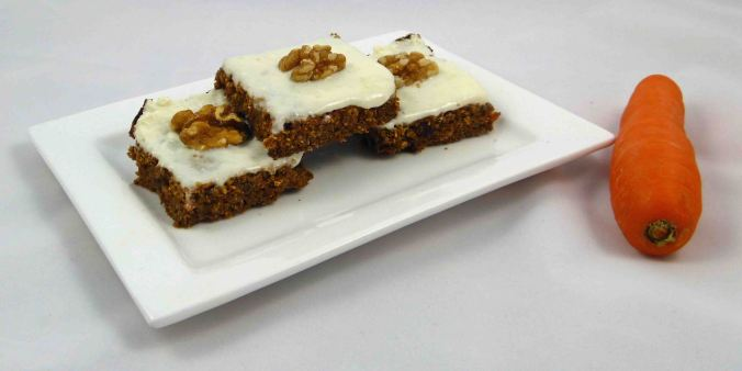 Spicy carrot and apple slice