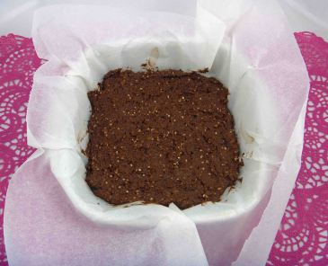 Chocolate tahini brownie uncooked
