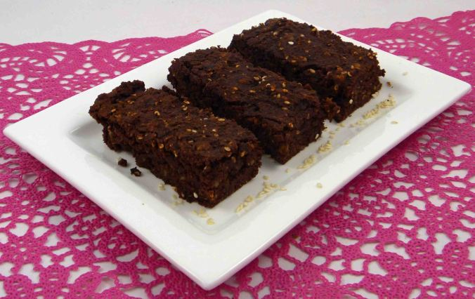 Chocolate tahini brownies 2