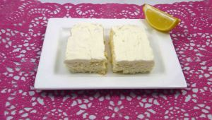 Coconut lemon slice