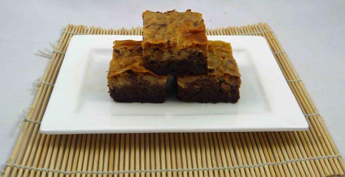 Healthier peanut butter cheesecake brownie 1