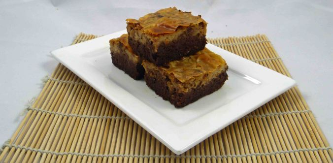Healthier peanut butter cheesecake brownie