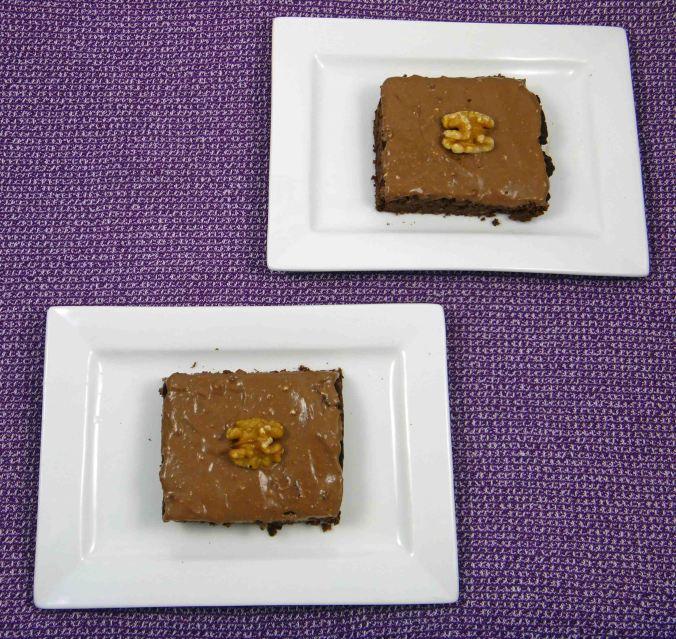 Chocolate ginger walnut chickpea brownie 2