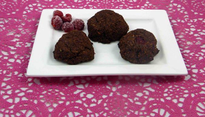 Chocolate raspberry coconut macaroons