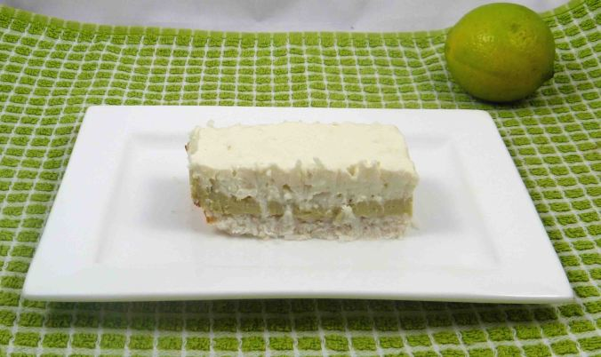 Coconut and lime cheesecake slice 2