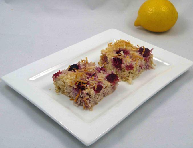 Lemon ricotta raspberry slice 2