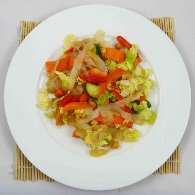 Shirataki noodle salad 1