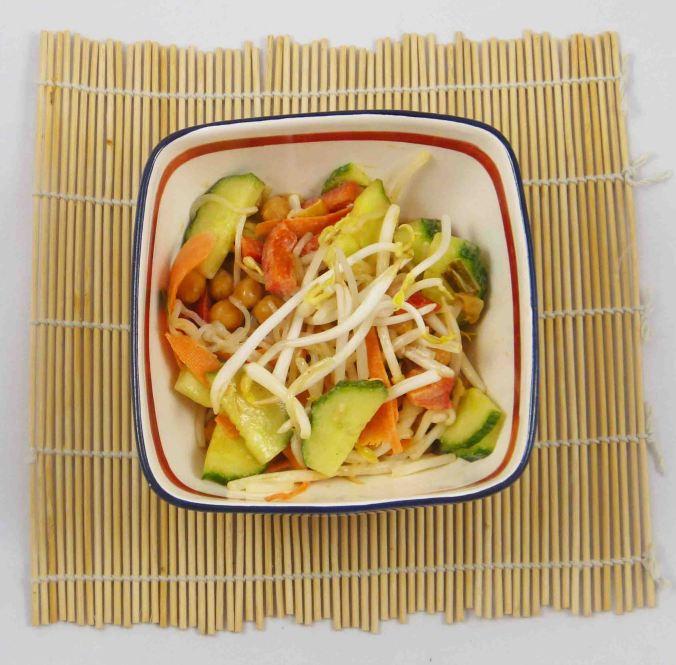 Shirataki noodle salad 2