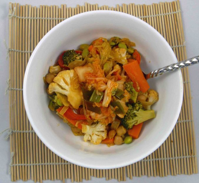 Stir fry with agar noodles