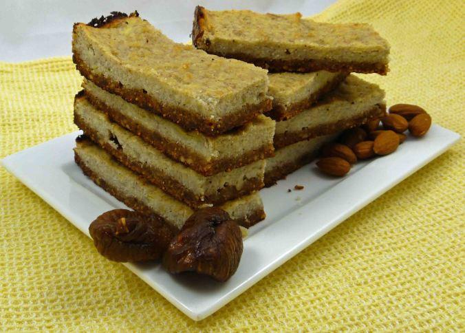 Banana fig almond slice