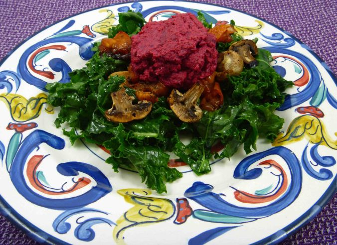 Beetroot cauliflower pesto 2
