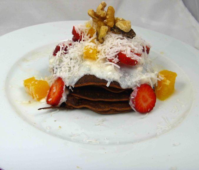 Choc orange protein pancakes 2