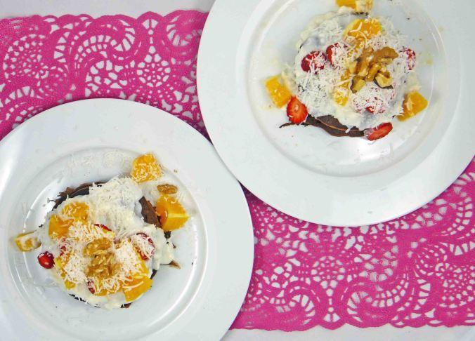 Choc orange protein pancakes 3