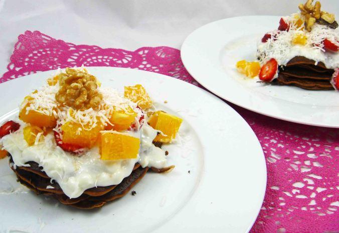 Choc orange protein pancakes 4