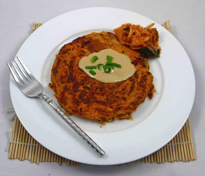 Giant kimchi pancake for one