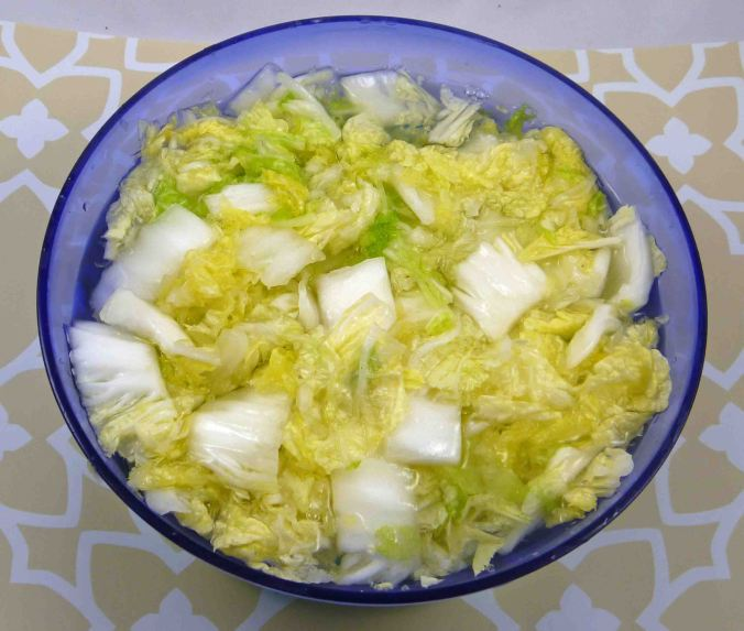 Kimchi soaking cabbage