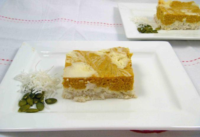 Pumpkin ricotta cheesecake