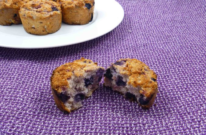 Berry coconut muffins 2
