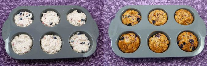 Berry coconut muffins