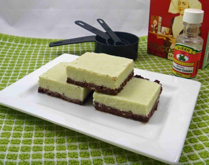 Frozen mint choc slice 1