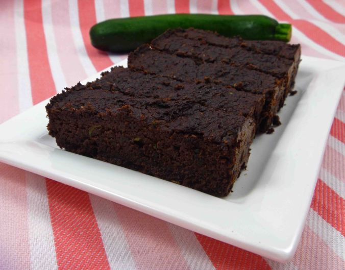 Low carb chocolate zucchini slice