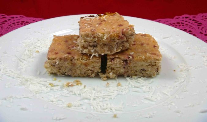 Strawberry and coconut blondie 2