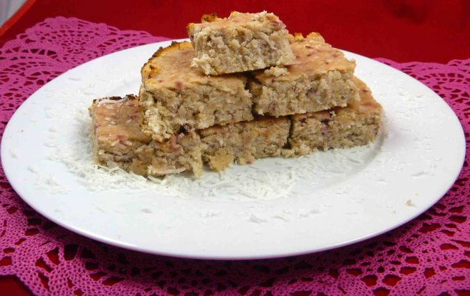 Strawberry and coconut blondie
