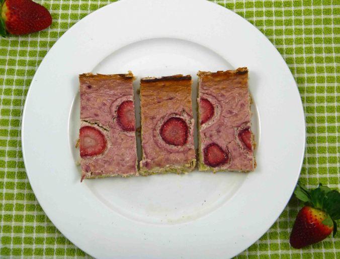 Strawberry matcha cheesecake 3