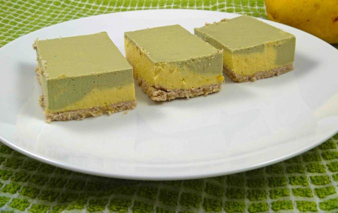 Matcha and mango cheesecake 2