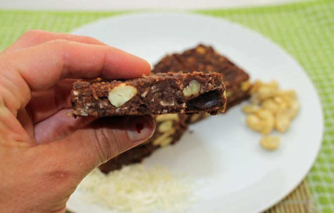Chocolate banana peanut butter slice 2