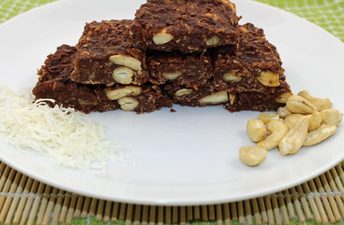 Chocolate banana peanut butter slice 3