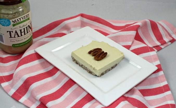 Tahini maple cheesecake
