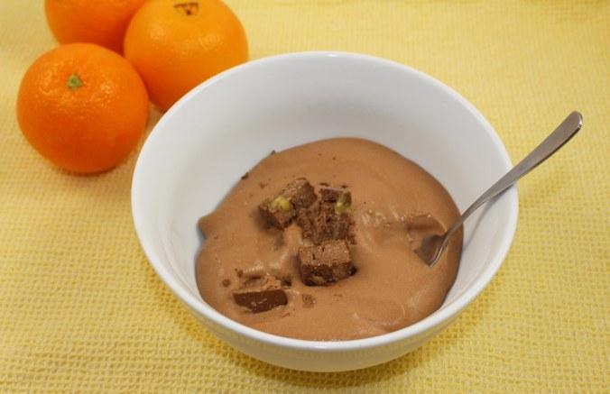 Chocolate orange cheesecake ice cream