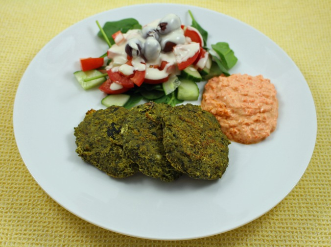 Spinach pumpkin chickpea patties
